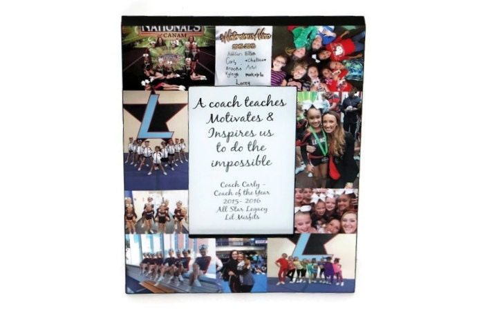 Coach Gift Picture Frame Collage Cheerleading Print Photo