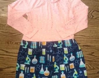 Science Dress - chemistry microscope flasks t-shirt party dress size 6
