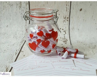 Ways To Say I Love You Keepsake Jar, Personalized Gift, Girlfriend Boyfriend Gift, I Love You, Personalized Keepsake Jar, Cute Storage Jar