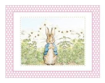 Edible Icing sheet, PINK Peter rabbit Cake Topper