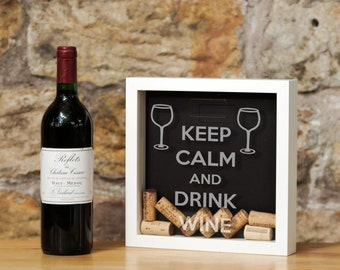 Wine cork memory box