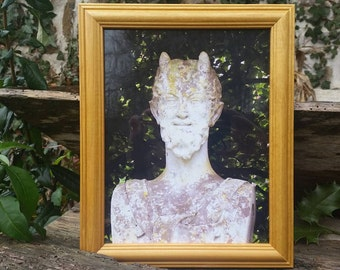 Pan Framed Photo Lord Of The Woods Pagan God Pagan Altar Decor