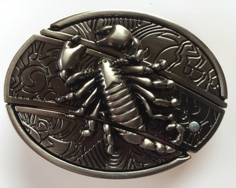 Scorpion Belt Buckle with Knife included
