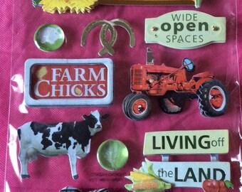 3D farm stickers