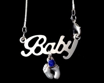 In memory of Baby Footprints Necklace | Miscarriage Infant Loss Remembrance