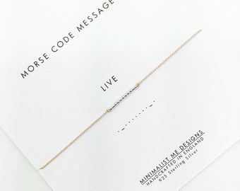 LIVE - Morse Code Bracelet