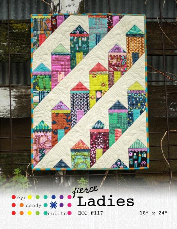 Mini Quilt Block Template Set : Fierce Ladies Mini Quilt Pattern