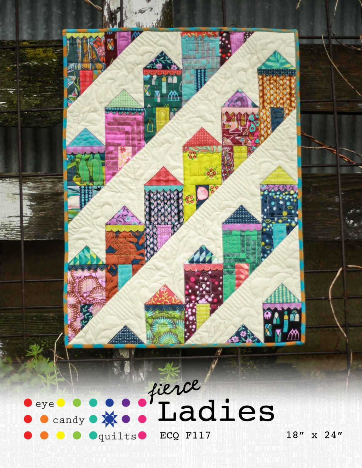 Fierce ladies mini quilt pattern for Modern house quilts