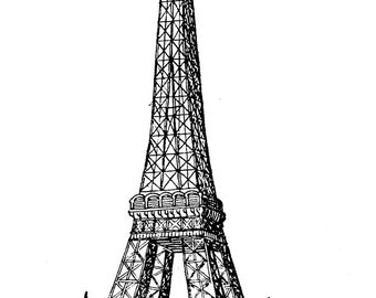 Tour Eiffel - Temporary tattoo