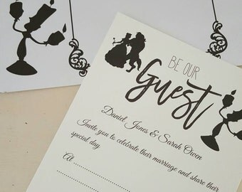 Beauty and the beast inspired wedding invitations (30)