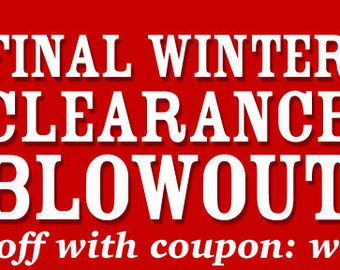 50% off WINTER BLOWOUT SALE