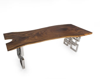 Live Edge Dining Table - 8ft (Sku1602-19A)