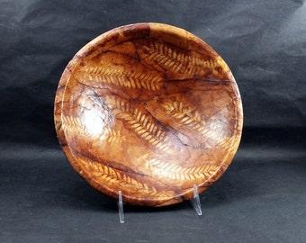 Rustic Shadow Leaf, Decorative Bowl