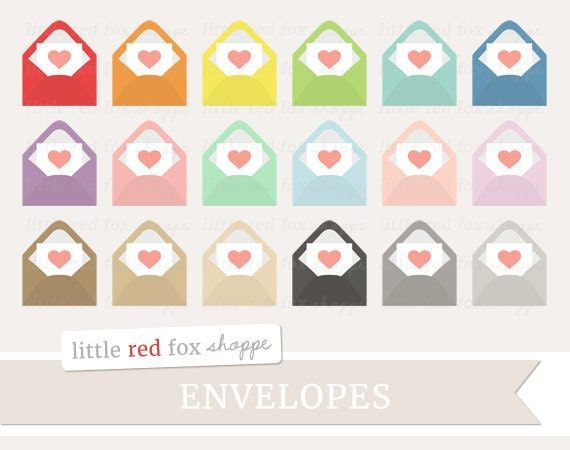Envelope Heart Clipart Valentines Day Clip Art Snail Mail