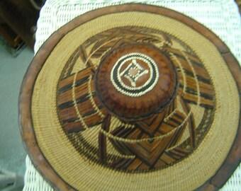 Vintage tribal african fulani handwoven hat