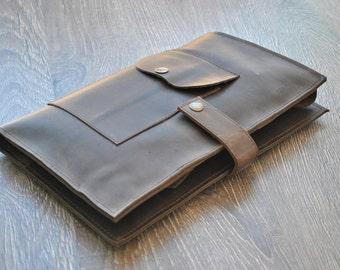 "Leather Ipad Air case Leather Moleskine cover Leather travel organizer Ipad Pro 9.7"" leather Sleeve iPad Portfolio Leather Cardholder Sleeve"