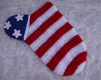 Stars and Stripes Cocoon & Hat Set