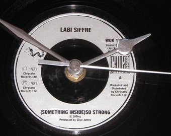 "Labi Siffre something inside so strong  7"" vinyl record clock"
