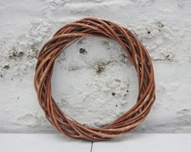 Small Natural Willow Ring Christmas Wreath  (15cm) - Natural Christmas Decorations.