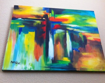 Original Painting Modern Art Abstract by Linda McKee