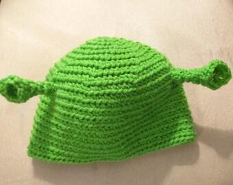 Shrek Crocheted Hat