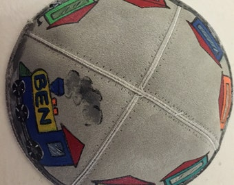 Custom hand painted kippot for any occasion.