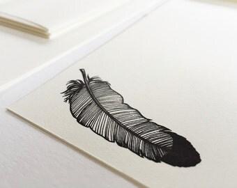 Feather - Letterpress Stationery Set