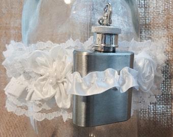 Custom made garter / lingerie  / hip flask garter / bespoke / valentines / anniversary / underwear