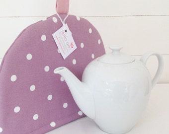 Purple Dotty Tea Cosy, Purple Tea Cosy, Tea Cosy