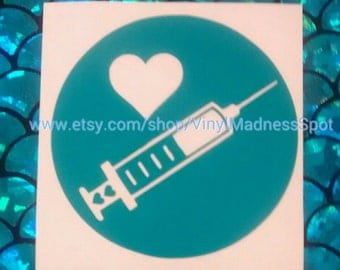 Vaccination decal crunchy mom healthy mom decal mom life decal vaccine decal shoots decal(size 2,8 inches all around)