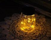 Mason Jar Solar Lid Light - Yellow - Angel Lights - Firefly Lights - solar mason jar, mason jar light, fairy light, mason jar solar light