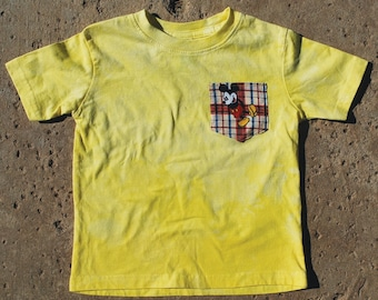 Mickey Mouse T-Shirt, Hand dyed and Appliquéd, Size 24 Months