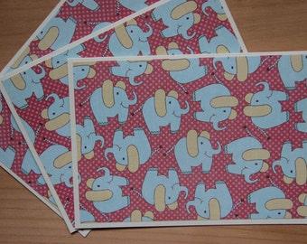 12 Elephant Note Cards.  Baby Elephant Card Set.  Elephant party invitations.  Elephant baby shower.  Elephant thank you cards.