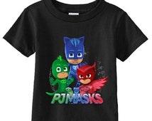 PJ Masks Custom Birthday t-shirt (Different Colors)