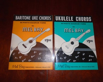 Ukulele Chords Book by Mel Bay / Ukulele Chords photo form / Vintage Mel Bay Ukulele Chords / Music instruction / Hawaiian Uke