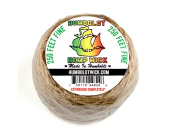 Humboldt Hemp Wick 250ft Roll - Fine Flame