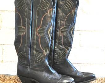 Vintage Women's Cowboy Boots Size 7