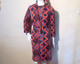 1960's/70's hippy trippy psychedelic Original rawe dress