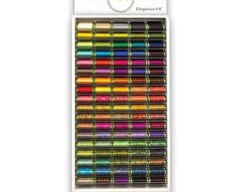 Wonderfil Eleganza Cotton Thread Sue Spargo Perle 8 & PERLE 5- 54 VARIEGATED  Colours to choose