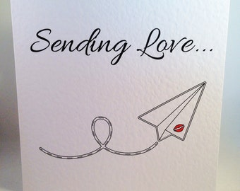 Sending Love - Paper Plane Card