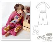"Fleece Pajama Pattern - Winter Lounge Set - 1-10Y - ""Drew & Jesse"" PDF"