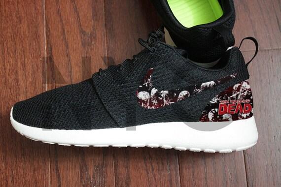 Nike Roshe Run Black The Walking Dead Custom