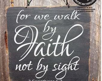 Faith decor, Christian decor, Bible Verse Sign, Faith sign, Corinthians sign