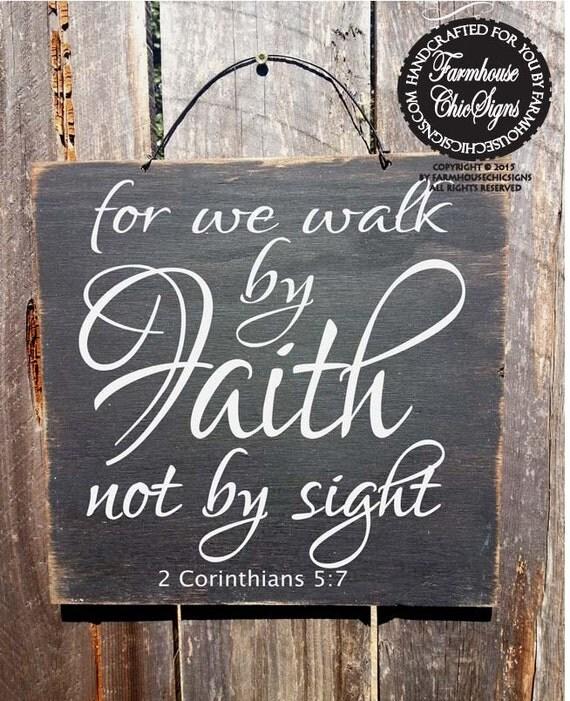 Faith decor christian decor bible verse sign faith sign for Faith decor