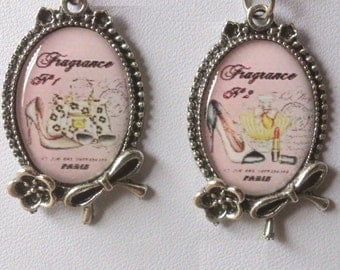 earrings jewelry retro  glamor quintessential woman in Paris from frenchjewelryvintage