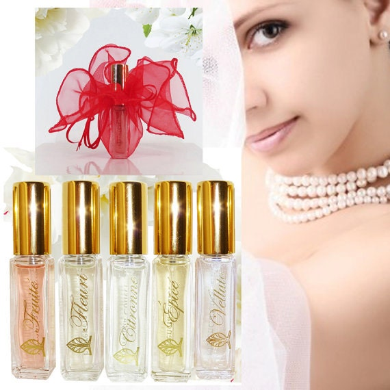 A Perfect Gift Wedding Favors Women's Perfume Bridesmaids Gift, Natural Fragrance Oils Florencia Collection Life is Beautiful, Travel Spray.