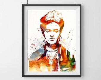 Frida Kahlo art- Mexican artist- Frida Kahlo- Orange