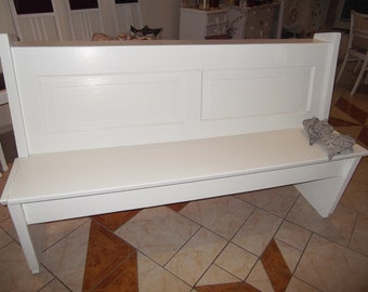 Old kitchen bench seat Pew shabby