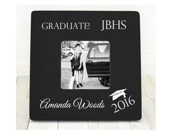 High School Graduation, College Graduation, Graduation Picture Frame, Gift for Graduate, Graduation Gift, Class of 2016 Frames, Graduate