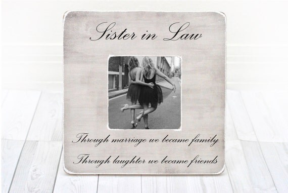 Wedding Gifts For Sister In Law: Sister In Law Frame Sister In Law Gift Bridesmaid Gift